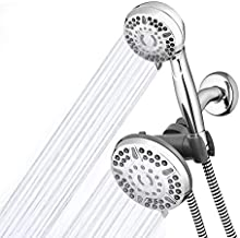 Waterpik High Pressure Shower Head Handheld Spray, 2-in-1 Dual System with 5-Foot Hose PowerPulse Therapeutic Massage, Chrome, 2.5 GPM XET-633-643