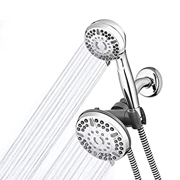 Waterpik High Pressure Shower Head Handheld Spray 2-in-1 Dual System with 5-Foot Hose PowerPulse Therapeutic Massage Chrome 2.5 GPM XET-633-643