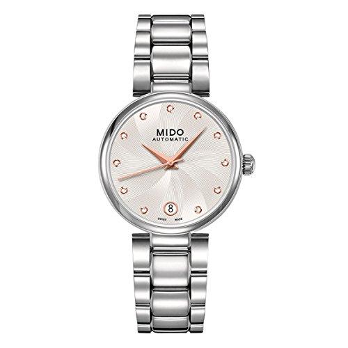 Mido–Orologio da polso per donna analogico automatico in acciaio inox m0222071103610