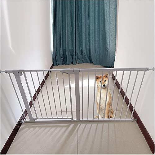 Barrera de Seguridad de Niños Barrera Infantil Valla Barrera de separación para Perros y Gatos, Barrera de Seguridad Extensible Espacio Entre barrotes de 5.5cm