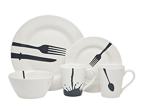Godinger Silver Art 16pc Acme Diner Dinnerware