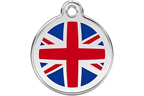 Red Dingo Custom Engraved Dog ID Tag - Union Jack - Small