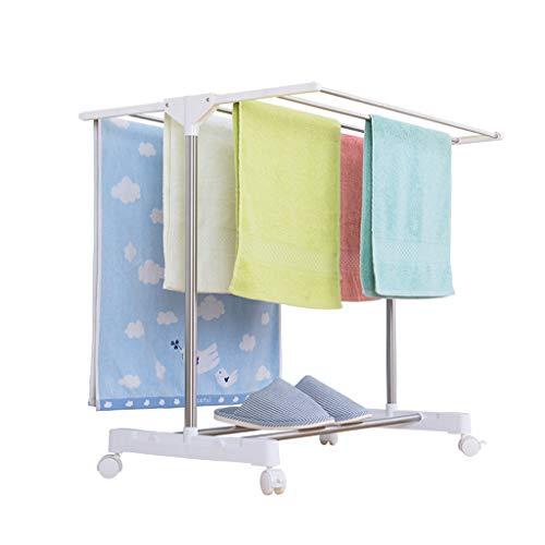 Rack de Secado Tubo de Acero Inoxidable Mini toallero Perforación Libre en el baño Rack de Secado de balcón Adecuado for la Ventana del baño