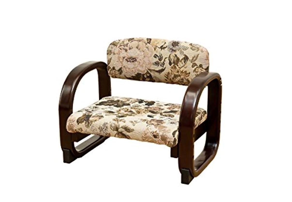 やる予想外のヒープサカベ ラクラク座椅子座面ファブリック花柄CX-F01FL