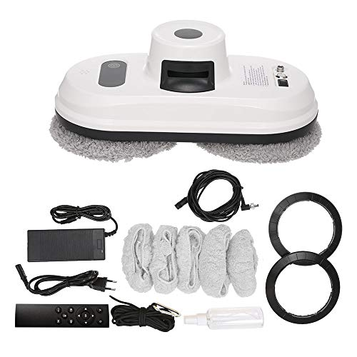 Gecheer Robot Lavavetri Intelligente Automatico Robot Intelligente per la Pulizia dei Vetri Forte Assorbimento del Vuoto, Funzione Telecomando