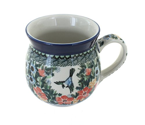 Blue Rose Polish Pottery Maria Bubble Mug