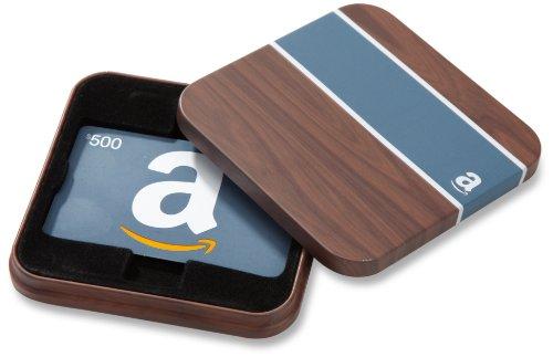 Amazon.com $500 Gift Card in a Brown & Blue Tin (Classic Blue Card Design)