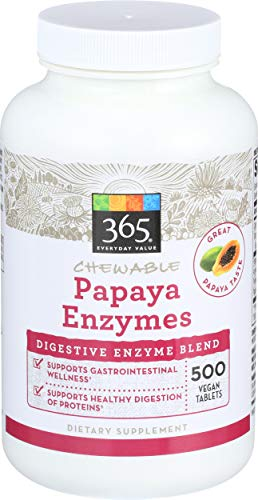 365 Everyday Value, Chewables Papaya Enzymes, 500 ct