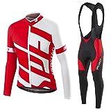 DNJKH Ropa Maillot Ciclismo Transpirable Hombres Jersey + Pantalones para Deportes al Aire Libre Ciclo Bicicleta