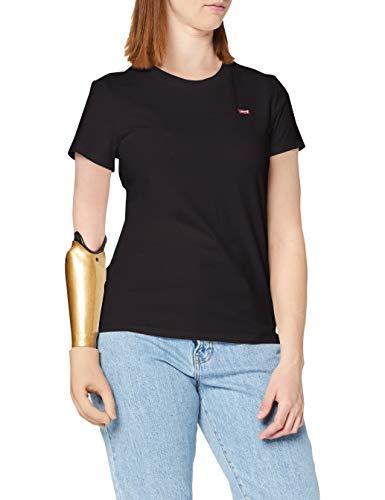 Levi's The Perfect Tee, Camiseta, Mujer, Negro (Caviar 2 0008), L