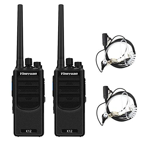 Vineyuan K12 Long Range Rechargeable Walkie Talkies 2 Pack - Up to 7 Miles Distance,12W 6800mAh Two Way Radios for Construction Team Camping Adventures Cruise Ship