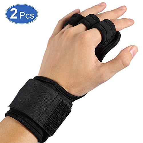 Haofy Crossfit handschoenen Grip Fitness handschoenen met polssteun en volledige handpalmbescherming, sporthandschoenen voor crossfit, krachtsport, bodybuilding, 1 paar trainingshandschoenen voor heren en dames