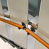 Liszh Pasamanos de Escaleras- Kit Completo Antideslizante Circular de Madera Maciza Escalera Pasamanos Inicio contra la Pared Interior Loft Ancianos Pasamanos Pasamanos Corredor de Apoyo de Rod