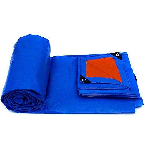 ZXQZ Bâche Bâches, Bâches extérieures légères bleues écologiques 4 mx 6 m Multi-usages imperméables Renforts de ceinture anti-déchirure durables Bâches (Couleur : Bleu, taille : 4 * 6m)