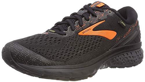 Brooks Ghost 11 GTX, Scarpe da Running Uomo, Multicolore (Black/Orange/Ebony 038), 45.5 EU