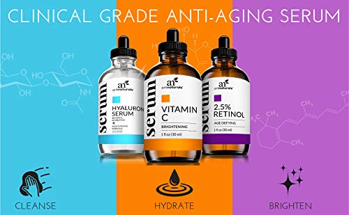 Anti aging products ArtNaturals Anti-Aging-Set with Vitamin-C Retinol and Hyaluronic-Acid – (3