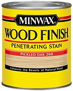 Minwax 70042444 Wood Finish Penetrating Stain, quart, Pickled Oak