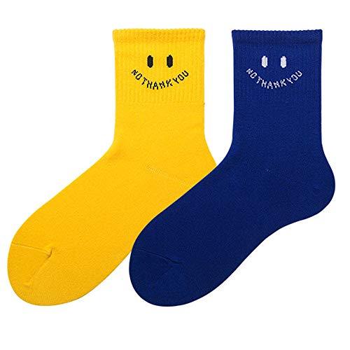 FANG Pak sokken, Smiley Socks Schoolgirl Socks Leuke Alphabet Sports Socks (10 paars), werksokken