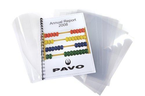 Pavo Einbanddeckel-Klarsichtfolie A4, PVC-Folie, 0.18 mm, 100-er Pack, transparent