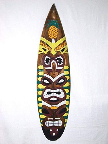 Stan256Nancy Tiki - Máscara de tiki para tabla de surf (madera tallada, 50,8 cm), diseño hawaiano