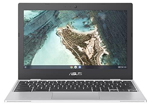 ASUS Chromebook CX1100CNA-GJ0036, Notebook con Monitor 11,6  HD Anti-Glare, Intel Celeron N3350, RAM 4GB, 32GB eMMC, Sistema Operativo Chrome, Argento