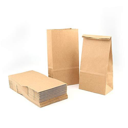 VEESUN Braune Papiertüten Adventskalender zum Befüllen, 120 Klein Kraftpapier Plätzchen Tüten Butterbrottüten DIY Verpackungstüten, 18x9cm Geschenktüten Geburtstag Kindergeburtstag Jungen, MEHRWEG