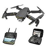 Tookss M66 FPV Drone con cámara WiFi HD 1080P Mini Quadrocopter Helicóptero Dron RC Toys VS VISUO XS809HW E58 E520 Negro + bolsa de almacenamiento