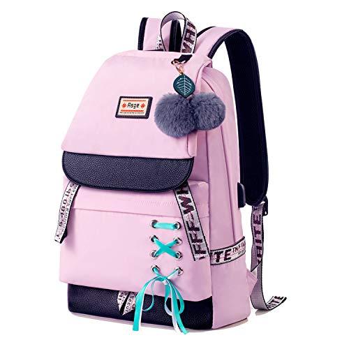 JUND Damen Mode Schultasche Kawaii Druck Rucksack Mädchen Lässig Wasserdicht Backpack Schule Teenager Daypack Männliche und Weibliche chüler Nylons …