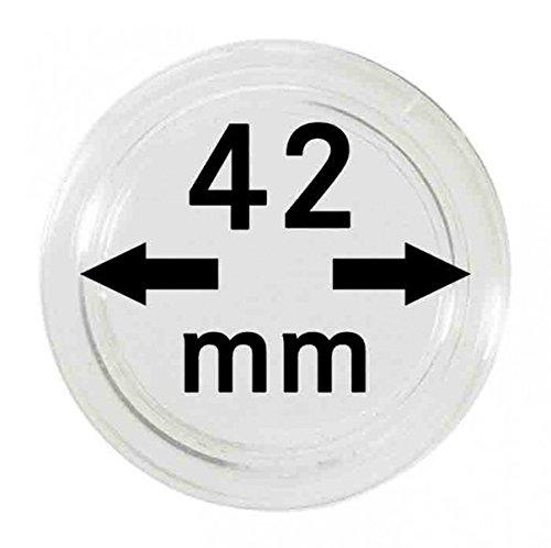 Lindner Münzkapseln für Münzen Ø 14 - 50 mm. Zur Wahl per 1, 5, 10, 100 Stück (42 mm - per 10)