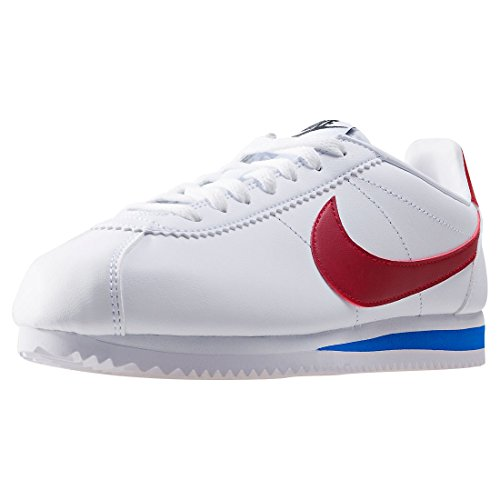 Nike Wmns Classic Cortez Leather, Scarpe Running Donna, Bianco (White/Varsity Red/Varsity Royal 103), 40 EU