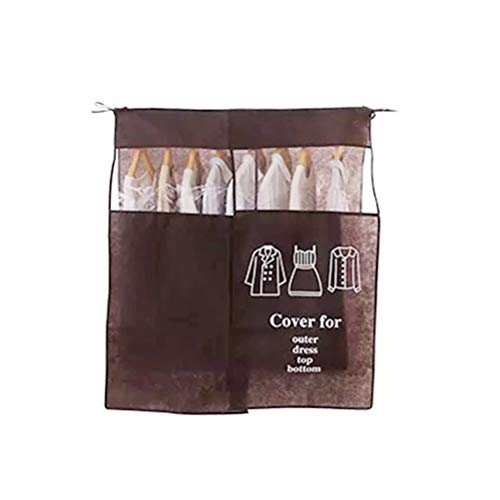 Brown Garment Bag Cover Non-Fabric Waterproof Dustproof Garment Dust Bag Garment Bags Clothes Dust Bag for Home Travel Hotel