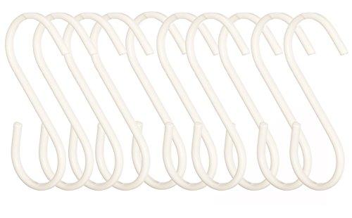 Premier Housewares–Juego de 10Ganchos para Colgar el sorello, Hierro, Blanco, 1 x...