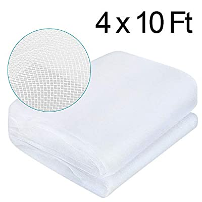 vensovo Garden White Mosquito Bug Netting - 4Ft x 10Ft Insect Plant Cover Garden Netting Made of Nylon Protect Your Plant Vegetables Fruits Flower