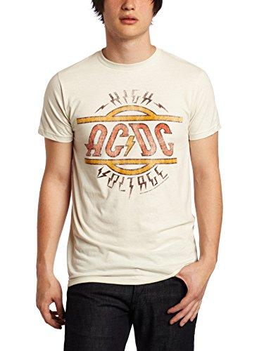 Impact Herren AC DC High Voltage T-Shirt - Weiß - Groß