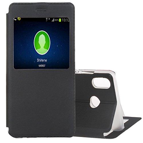 3D For El Caso De Huawei Lite P20, Flip Funda De Cuero Litchi Textura Horizontal Con La Identificación De Llamada Display, Caso For El Teléfono Móvil - Z6W65 (Color : Black)