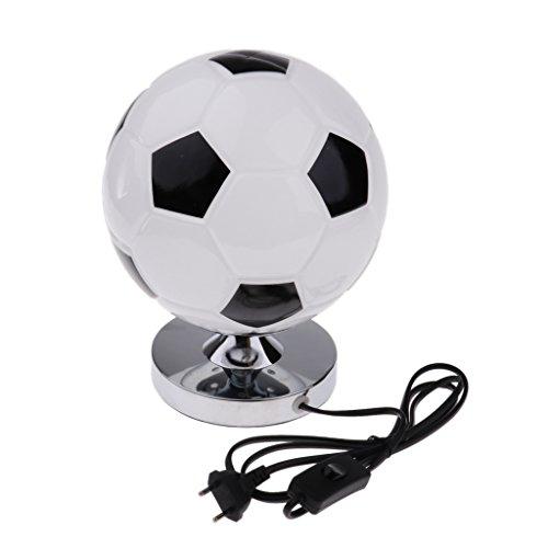PETSOLA Kreative Fußball Schreibtischlampe Nachttischlampe Tischlampe Tischleuchte