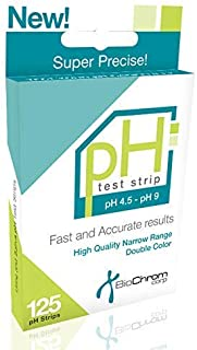 BiochromCorp pH Test Strips for Body pH Levels for Alkaline & Acid Levels Using Saliva and Urine. Get Accurate Results in Seconds. pH Scale 4.5-9 (125 Strips)