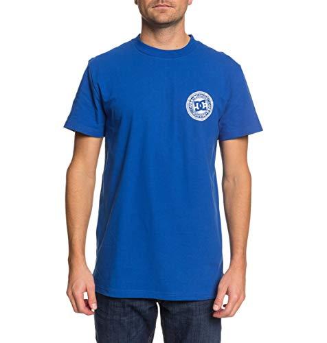 DC Shoes Circle Star-Camiseta para Hombre, Nautical Blue/Snow White, L