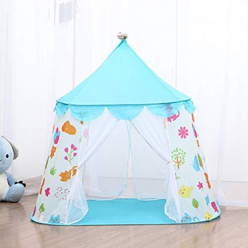Draagbare speeltent, kindertenten Babykasteel Tipi Jongens Meisjes Buiten Ballenbad Kinderen Speelhuis Baby Binnenslaapkamer Tipi Game Tent,Blue