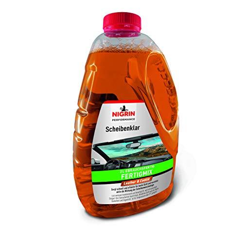 NIGRIN 20427 Performance Scheibenklar I Scheibenreiniger I Leather & Cookie I Gebrauchsfertig, 3 Liter