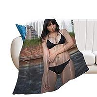 沢口愛華 毛布 シングル 人気 フランネル エアコン ブランケット 軽い 暖かい 柔らかい 肌触りにやさしい くしゅくしゅ 綿毛布 コットン ブランケット ふわふわ あったか 洗える 130X100cm