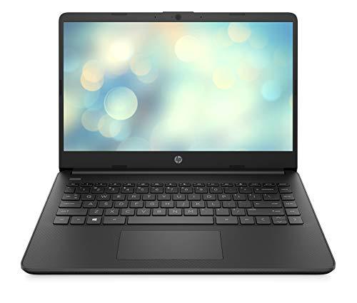 HP 14s-fq0242ng (14 Zoll / FHD) Laptop (AMD Ryzen 5 4500U, 8GB DDR4 RAM, 256GB SSD, AMD Radeon Grafik, Windows 10 Home) Schwarz