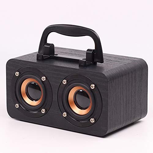 Tollk Lesse Nuevo Altavoz Bluetooth para el hogar de Madera teléfono móvil Audio Bluetooth inalámbrico música sin pérdidas Experiencia de película de Sonido Original Altavoz de Forma Elegante
