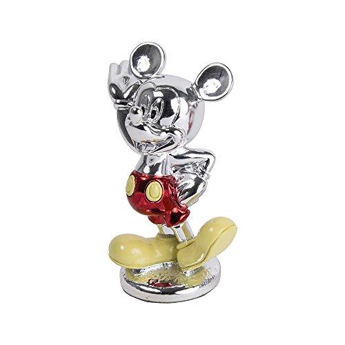 Car Bomboniere Car Oggetti per Sempre Mickey con Astuccio, Argento, 13x16x11.5 cm