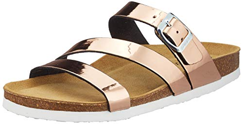 ARA Shoes Women's Sandals, Felipa, Rosegold Metallic, 9.5-10US