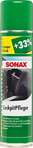SONAX CockpitPfleger Lemon-Fresh (400 ml) reinigt und pflegt alle Kunststoffteile im Auto | Art-Nr. 03433000