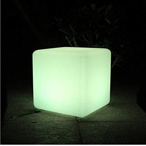 Post-modern LED Cube Chair Night Light Outdoor Party Wedding Garden Decor Lighting Furniture Bar Cube Stools Plastic Table Lamps-40x40x40CM