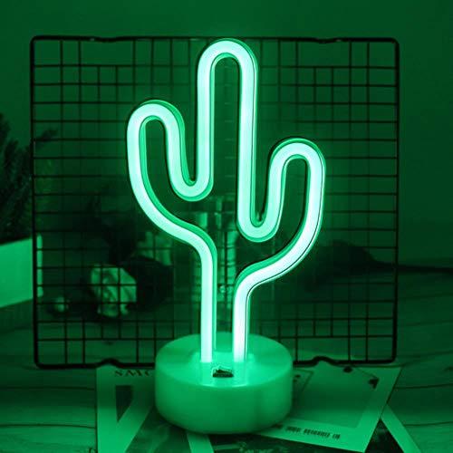 Leuke Nachtlampje Regenboog LED Neon Licht Teken Vakantie Kerstfeest Bruiloft Verjaardag Decoraties Kinderkamer Home Bureau Decor Nachtlampje Cadeau, Cactus