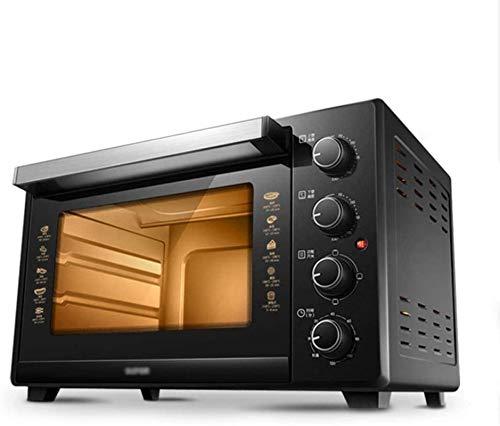 Mini horno eléctrico - Hogar 35L arriba y abajo Control independiente Temperatura Multifunción Mini horno, 53.5x30.5x34cm Horno de tostadora (Color: Negro)