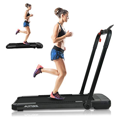 Murtisol 2 in 1 Folding Treadmill,2.25HP Under Desk Electric Treadmill, Installation-Free...